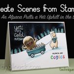 How to create scenes from stamps