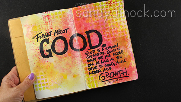 Sandy Allnock Izink Art Journal Page