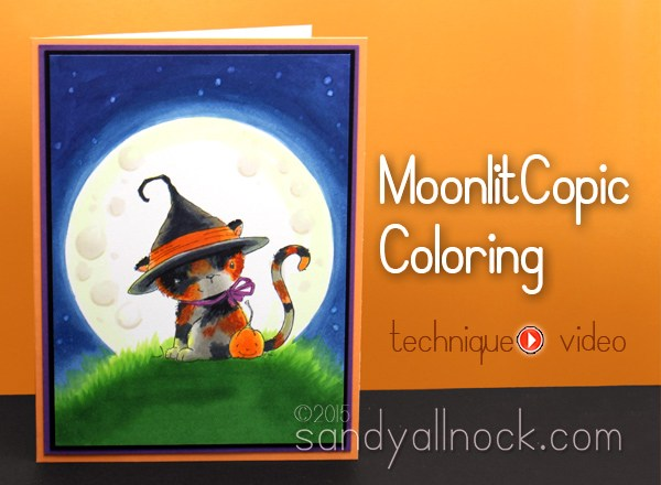 Coloring Moon Light with Copics