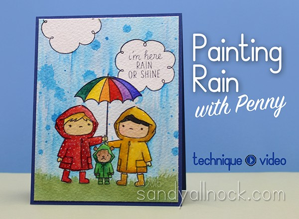 How to paint rain