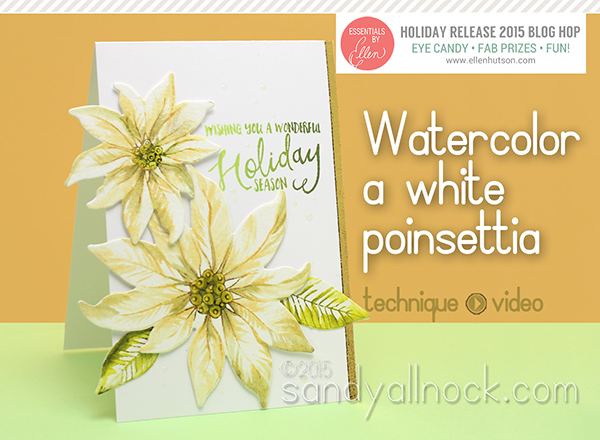 Watercolor Flower Series #9: Paint a white poinsettia