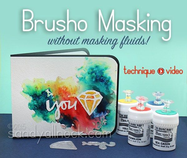 Brusho Masking: Pin-sights Inspiration!
