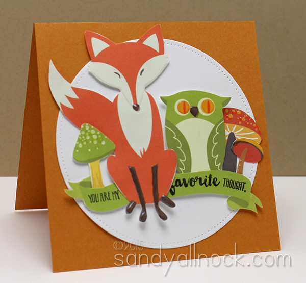Sandy Allnock Hybrid Cardmaking fox