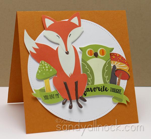 Sandy Allnock Hybrid Cardmaking fox