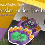 MONSTER UNDER THE BED!?!? Action Wobbles Card