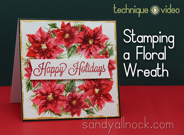 Stamping a Floral Wreath – My Monthly Hero kit Oct 2015