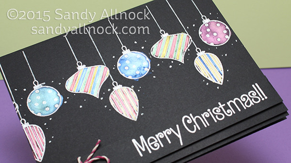 Sandy Allnock Watercolor on Black - ornaments2