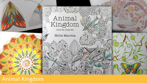 Adult Coloring Books Animal Kingdom