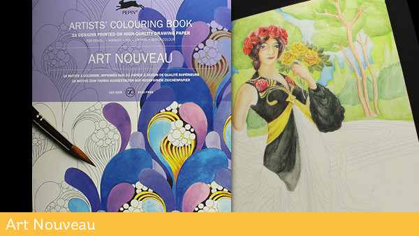 Artist Coloring Books Art Nouveau