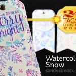 24 Tags of Christmas 2015: Watercolor Snow
