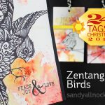 24 Tags of Christmas 2015: Zentangle Birds
