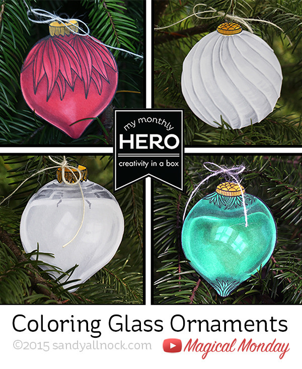 Magical Monday: Coloring Glass Ornaments