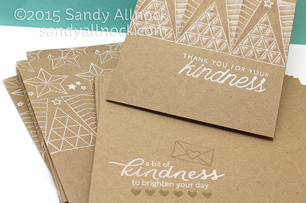 Sandy Allnock - One Layer Kraft Card