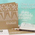 One Layer Kraft Cards