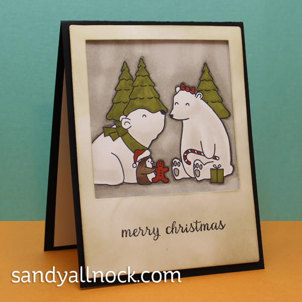 Sandy Allnock - Stamp your own bear family photo card