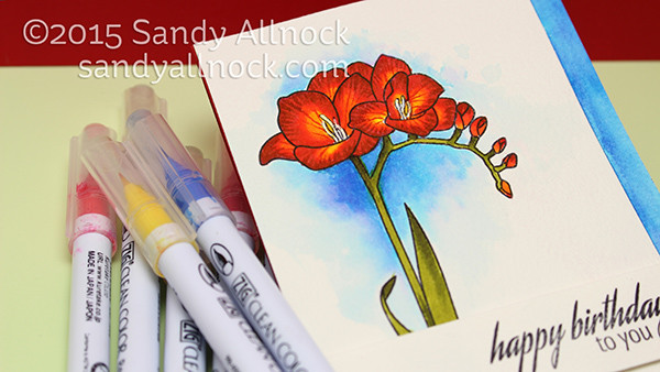 Sandy Allnock - Watercolor Freesias Clean Color Marker