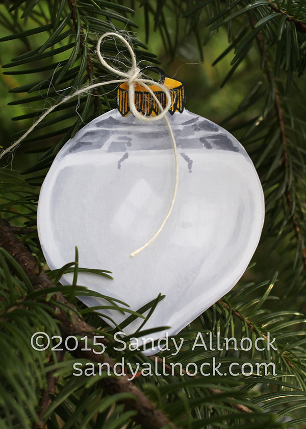 Sandy Allnock - glass teardrop ornament