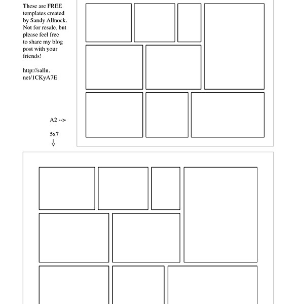 Free Template: Comic Strip Card – Sandy Allnock