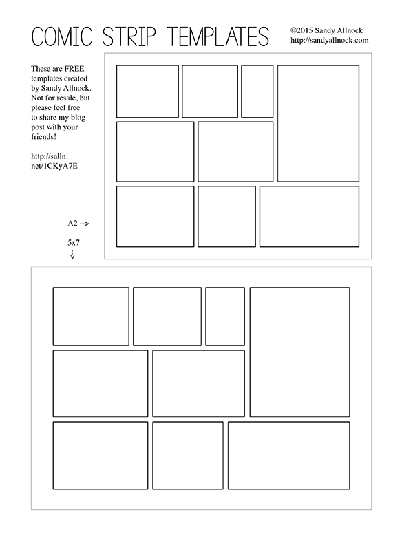 Free Template: Comic Strip Card