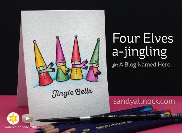 Four elves a-jingling
