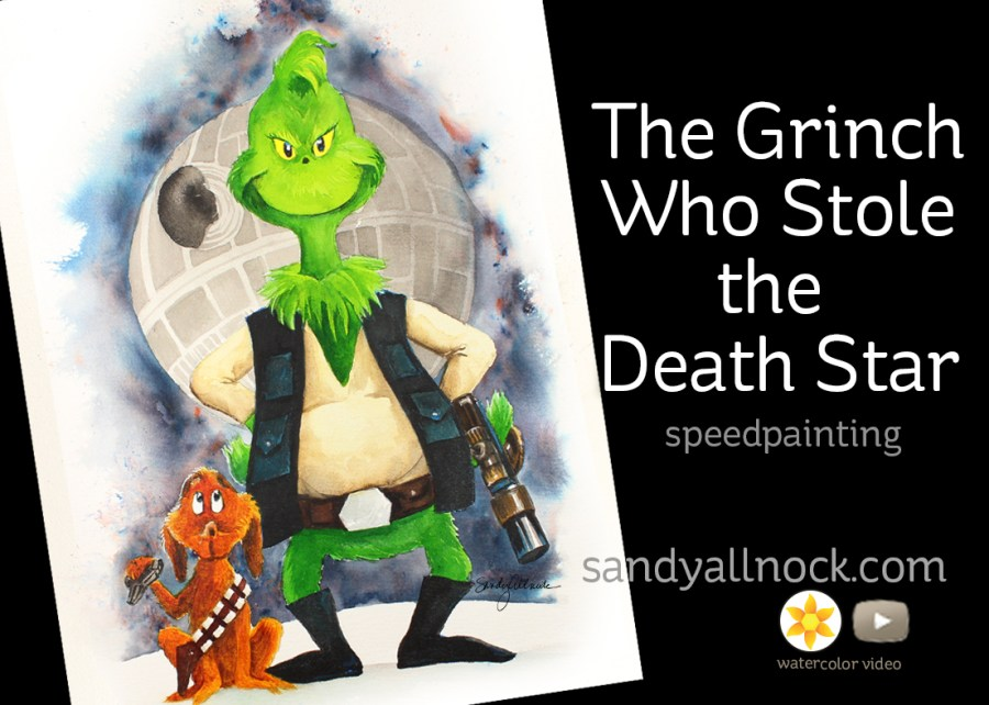 Grinch Star Wars Mashup: The grinch who stole the death star