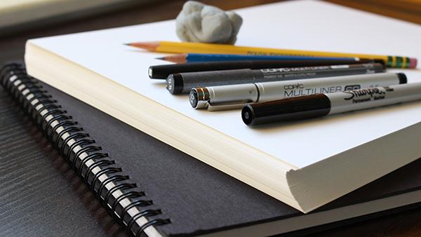 sketchbook pens
