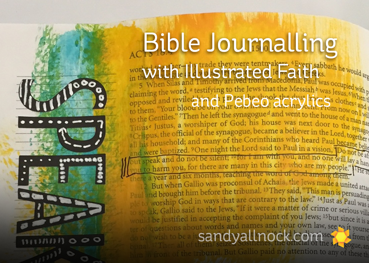 Bible Journalling Class – and CHA day one