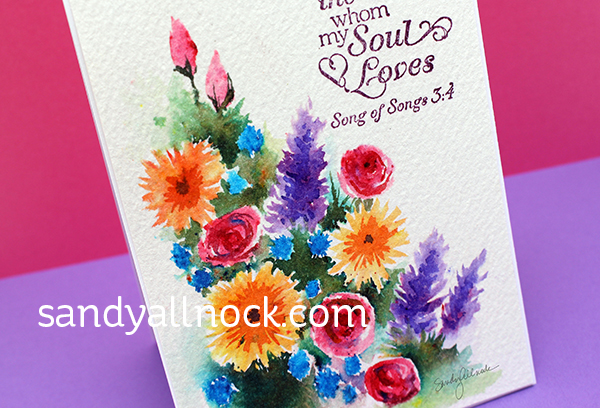 Sandy Allnock Watercolor a Brusho Garden