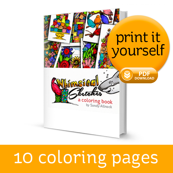 whimsical coloring book