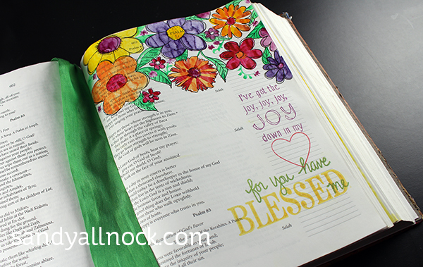 Sandy Allnock Bible Art Page
