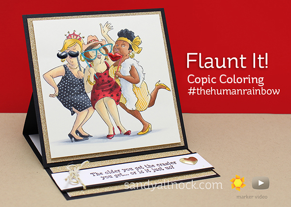 Coloring skin with Copic Markers: Flaunt It! – Sandy Allnock