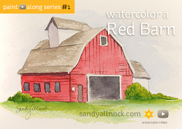 Paint-Along Series #1: Barn