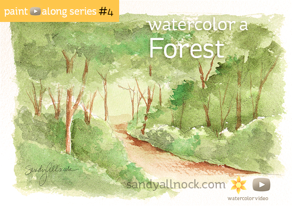 Paint-Along Series #4: Forest Scene