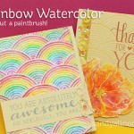 Rainbow Watercoloring – with no brush!