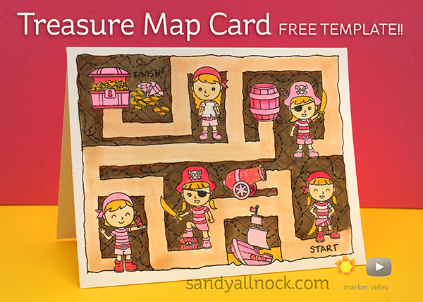 Treasure Map Card: Penny's Pink Pirates
