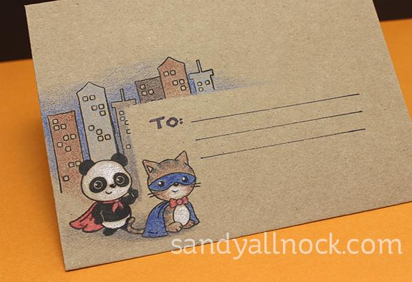 Sandy Allnock Caped Cuties Envelope