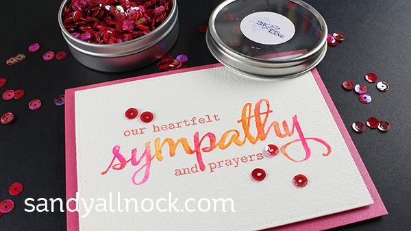 Sandy Allnock - Faux Hand Lettering sympathy