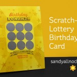 Scratch-off Lottery Birthday Card