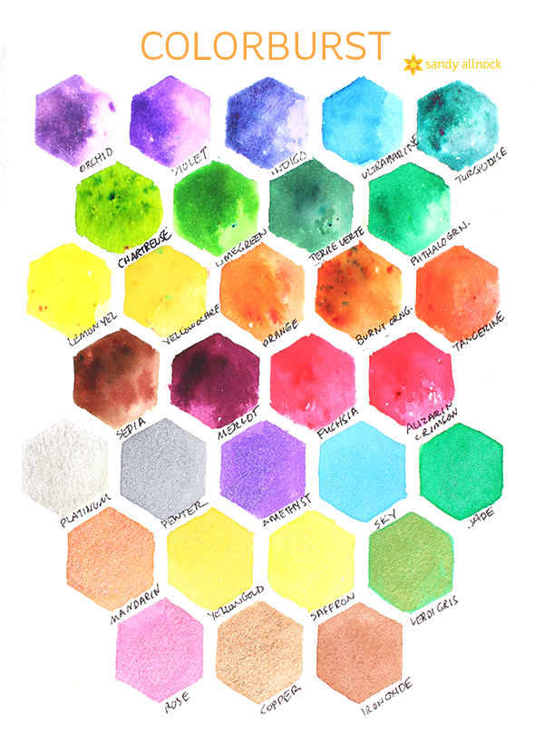 Sandy Allnock colorburst chart