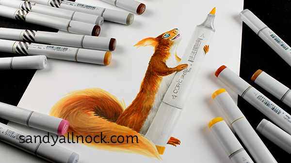 Sandy Allnock - Copic Marker Shortage Squirrel