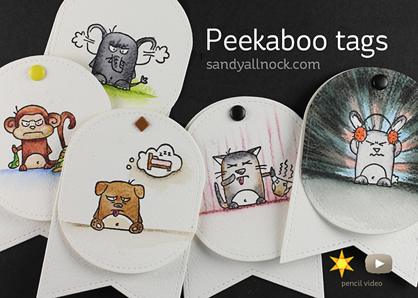 Peekaboo Gift Tags – using MISTI