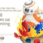 May the Fourth Be With You! BB8 takes up painting