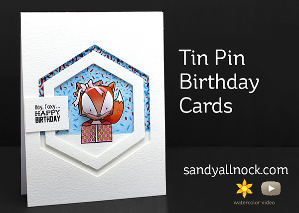 Tin Pin Birthday Cards