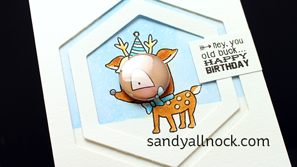 Sandy Allnock Tin Pin Deer Card