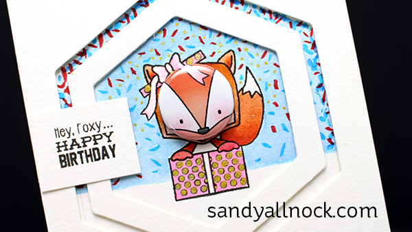 Sandy Allnock Tin Pin Fox Card