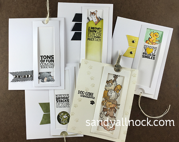 Sandy Allnock Five Stacker Cards
