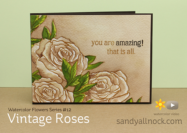 Watercolor Flowers Series #12: Vintage roses