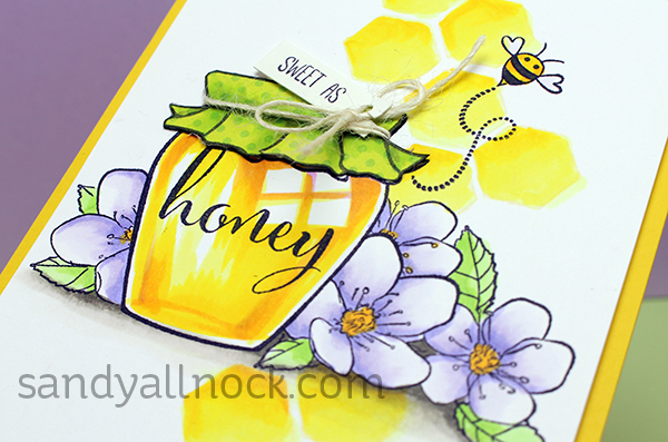 Sandy Allnock Coloring a glass honey jar