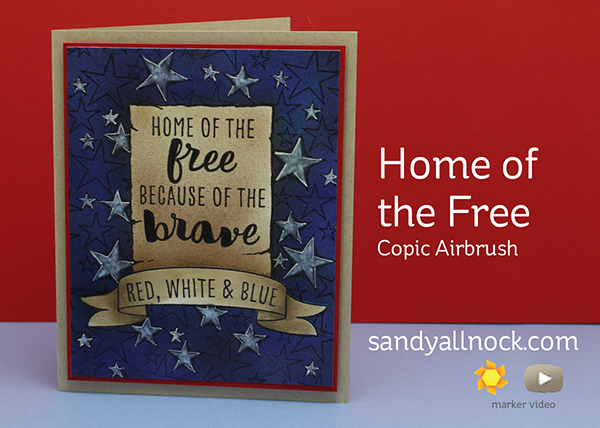 Home of the Free ft Copic airbrush