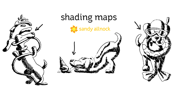 Sandy Allnock Newtons Nook shading map